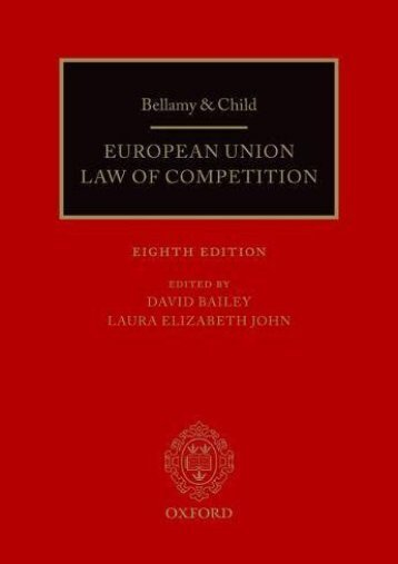 [Doc] Bellamy   Child: European Union Law of Competition Ebook