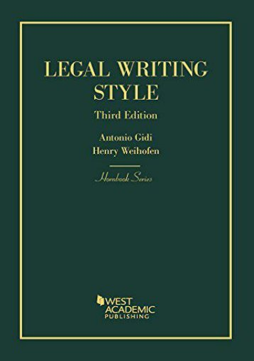 Free eBooks Legal Writing Style (Hornbook Series) Full