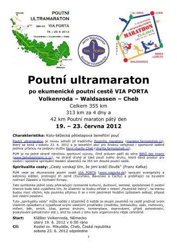 Poutní ultramaraton - Poutní maraton