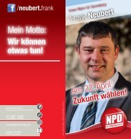 Faltblatt Frank Neubert