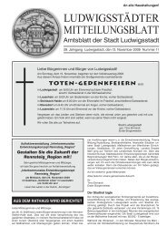 LUDWIGSSTÄDTER MITTEILUNGSBLATT - Ludwigsstadt