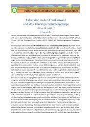Exkursion in den Frankenwald und das Thüringer ... - NWV-Darmstadt