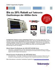 Bis zu 20% Rabatt auf Tektronix- Oszilloskope der ... - CalPlus GmbH