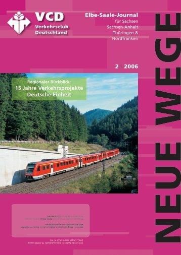 T H E M E N S C H W E R P U N K T - VCD Landesverband Elbe-Saale