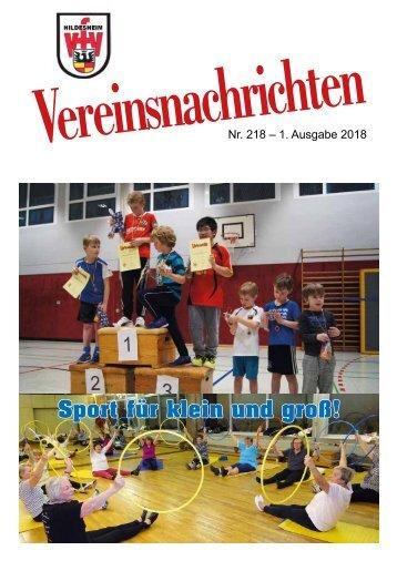VfV Hildesheim - Vereinszeitung 1/2018