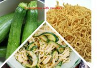 Courgettes with noodles