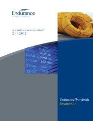 Endurance Worldwide Insurance - Q1 2012 Financial Highlights