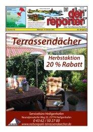 der reporter - Das Familienwochenblatt für Fehmarn 2012 KW 42