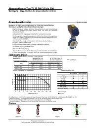 Absperrklappe Typ TILIS DN 32 bis 300 - Wehlan