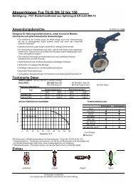 Absperrklappe Typ TILIS DN 32 bis 150 - Wehlan