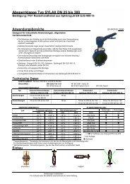 Absperrklappe Typ SYLAX DN 25 bis 300 - Wehlan