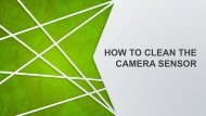 How to Clean the Camera Sensor