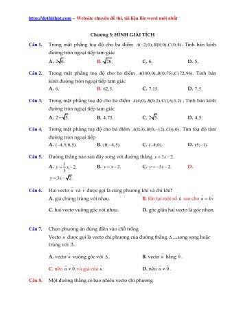 MINISHOW OXY [ 2017 EDITION ] - PHƯƠNG PHÁP TỌA ĐỘ TRONG MẶT PHẲNG (Lý thuyết + Bài tập ứng dụng có lời giải) (368 trang)