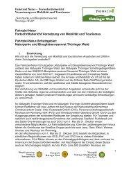 Fahrtziel Natur Fortschrittsbericht Vernetzung von Mobilität und ...