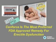 Prefer FDA Approved Remedy For Impotence Issues