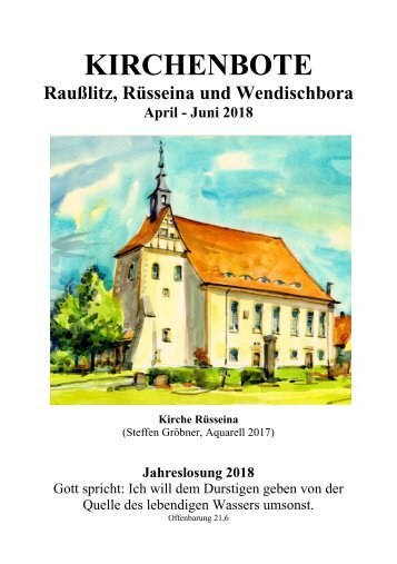 Kirchenbote April, Mai, Juni 2018