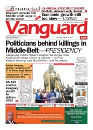 23042018 - Politicians behind killings in Middle-Belt—PRESIDENCY