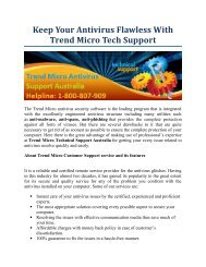 Keep Your Antivirus Flawless With Trend Micro Technical Support