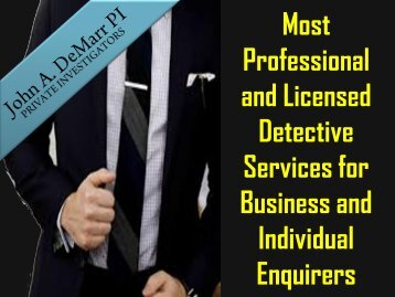 Most Professional Detective Services