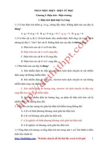 BÀI TẬP TN VẬT LÍ 11 - 7 CHƯƠNG - Có lời giải chi tiết (211 trang)