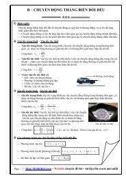 Bài tập Chương 1 - Vật Lý LỚP 10 - Động học chất điểm - Đáp án (110 trang)