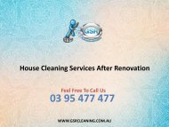 House Cleaning Services After Renovation