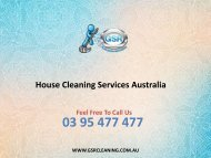 House Cleaning Services Australia
