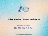 Office Window Cleaning Melbourne