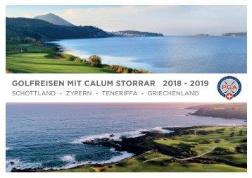 Golfreisen mit Calum Storrar 2018-2019