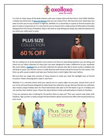 Buy sexy plux size sexy dresses from Oxolloxo