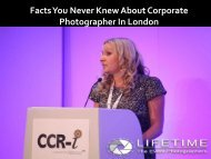 Facts You Never Knew AboutCorporate Photographer In London