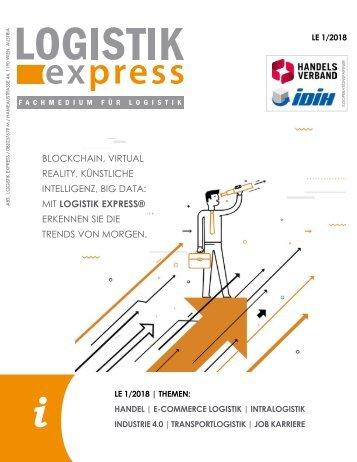 LOGISTIK express Fachzeitschrift | 2018 Journal 1