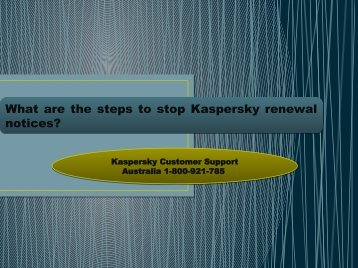 What are the steps to stop Kaspersky renewal notices