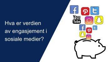 Hva er verdien av engasjement i sosiale medier vDELING