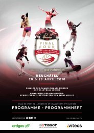 Programme Swiss Volley Final Four 2018