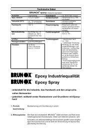 Epoxy Industriequalität Epoxy Spray - Brunox