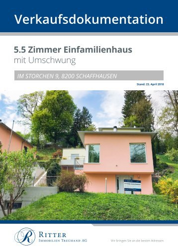 Verkaufsdokumentation Im Storchen 9, 8200 Schaffhausen