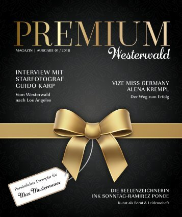 Magazin PREMIUM Westerwald - Ausgabe 01/2018