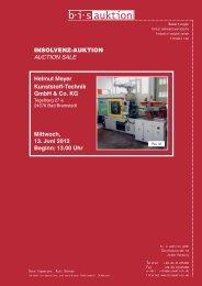 Versteigerungs-Katalog Meyer - Plasticker