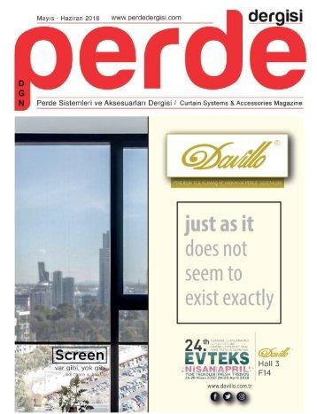 Perde Dergisi Mayıs Haziran 2018 Online Dergi