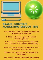 Brand Content Marketing Reboot Tips