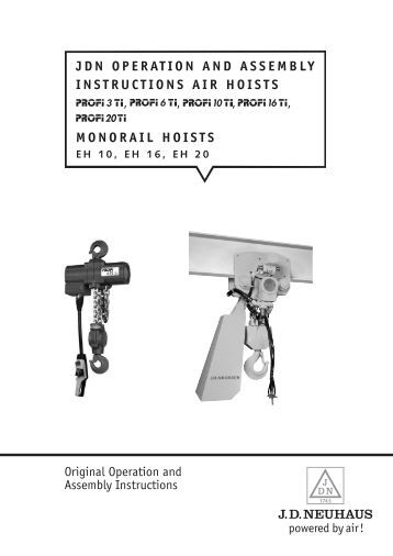 JDN OPERATION AND ASSEMBLY INSTRUCTIONS ... - Pacific Hoists