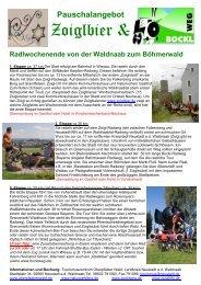 Zoiglbier & Bocklweg - Oberpfälzer Wald