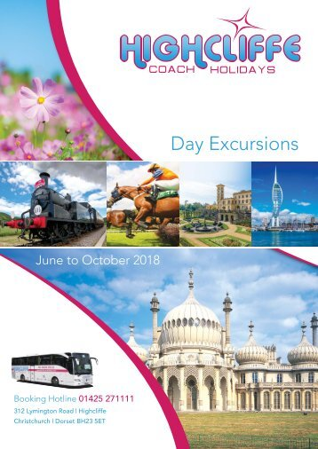 Highcliffe Coach Holidays - Day Excursion - June to Oct 2018
