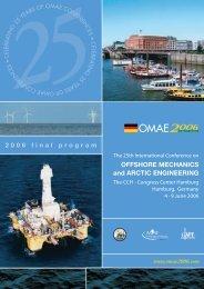 OFFSHORE MECHANICS and ARCTIC ENGINEERING