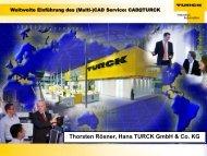 Thorsten Rösner, Hans TURCK GmbH & Co. KG - Cadenas