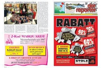 der reporter - Das Familienwochenblatt für Fehmarn 2011 KW 50