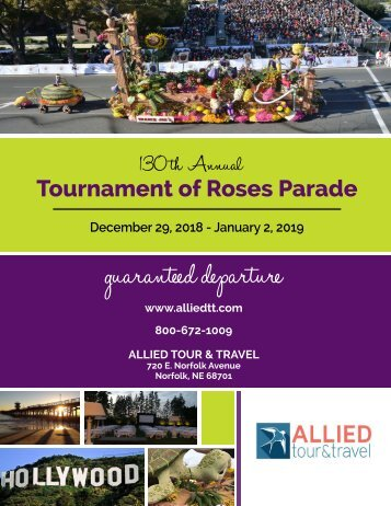 Rose Parade 2018-2019 - Allied Tours