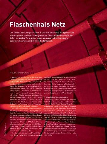 Flaschenhals Netz - Neue Energie