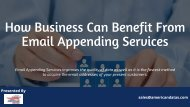 How Business Can Benefit From Email Appending Services